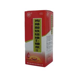 金桃 枸櫞酸鐵銨維B1糖漿Ⅱ