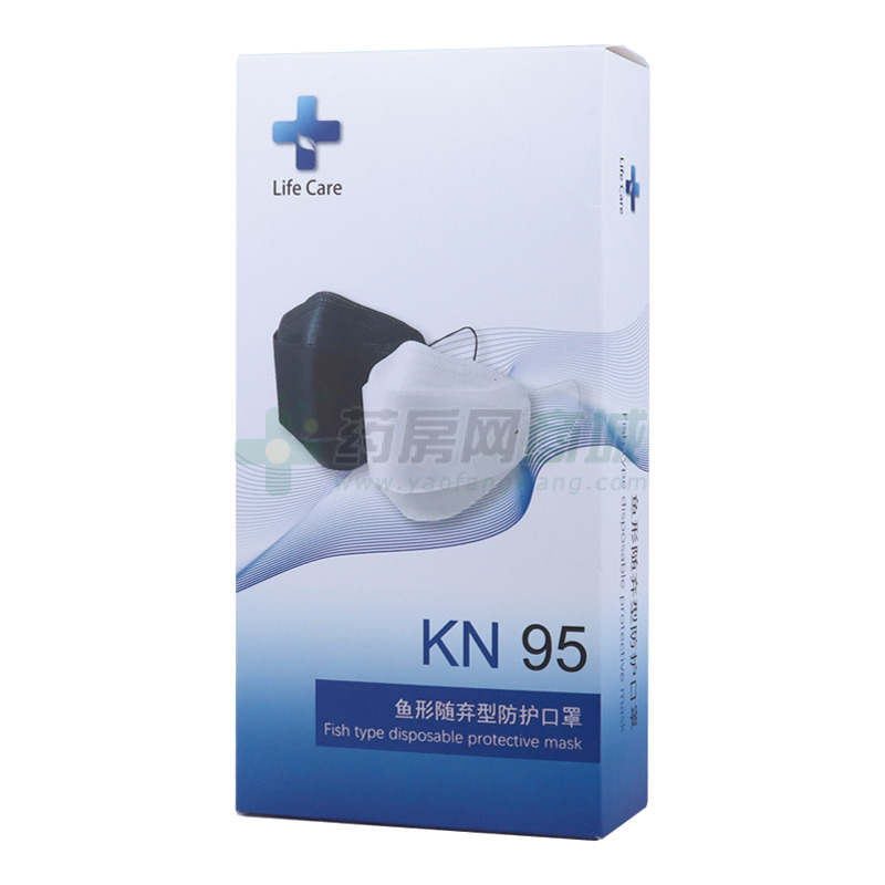 KN95·耳带式多层型·鱼形随弃型防护口罩(泰安金豪高分子材料有限公司)