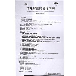 步長 清熱解毒膠囊(陜西步長制藥有限公司)-步長制藥說明書背面圖1