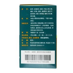 慢嚴舒檸 清喉利咽顆粒(桂龍藥業(安徽)有限公司)-安徽桂龍包裝細節圖1