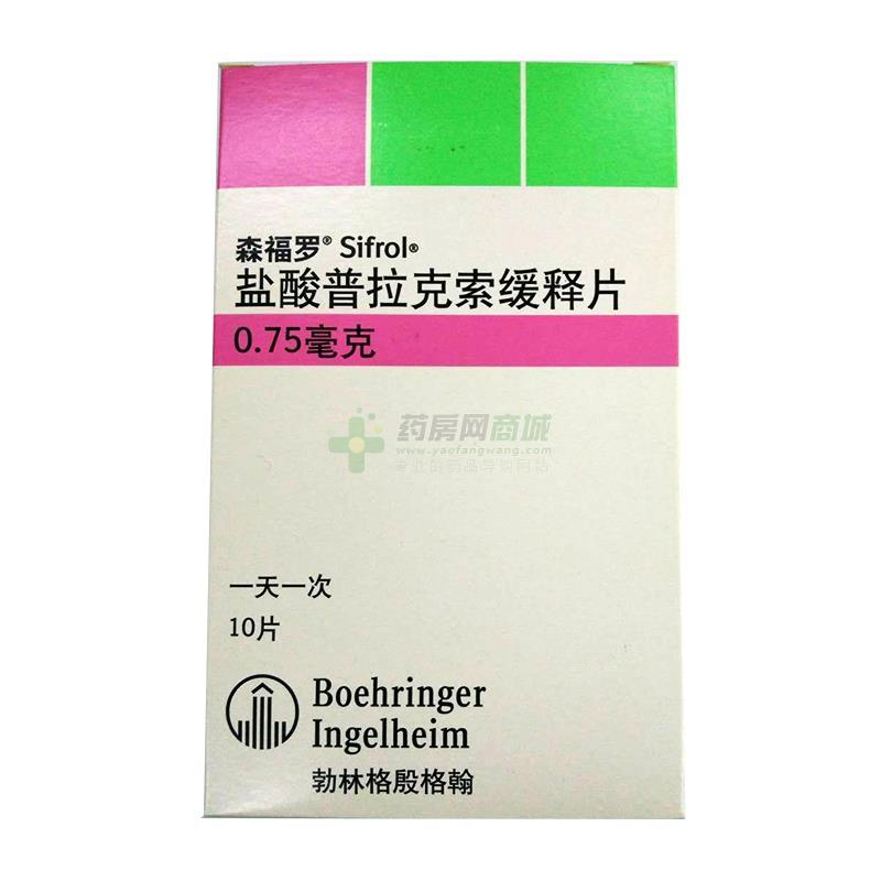 森福羅 鹽酸普拉克索緩釋片(上海勃林格殷格翰藥業有限公司)-格翰藥業